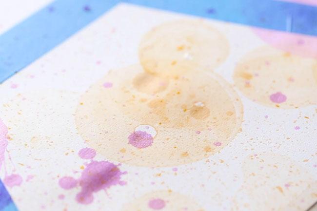 Blow Bubbles on Paper