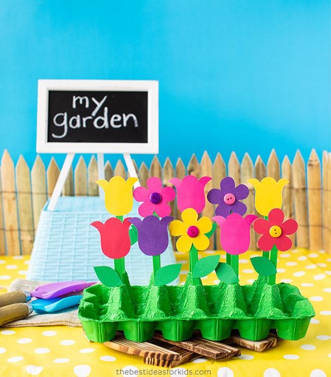 Egg Carton Flower Garden Craft