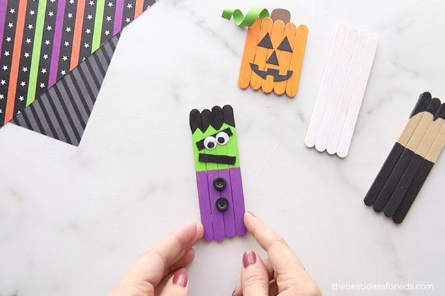 Glue on Buttons to Frankenstein