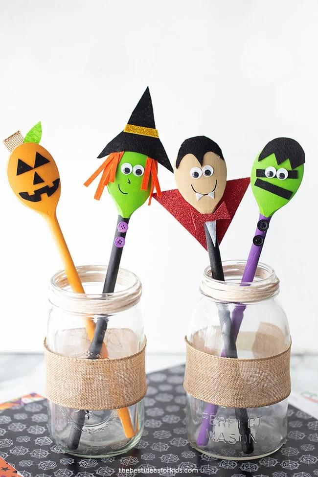 Halloween Wooden Spoon Crafts