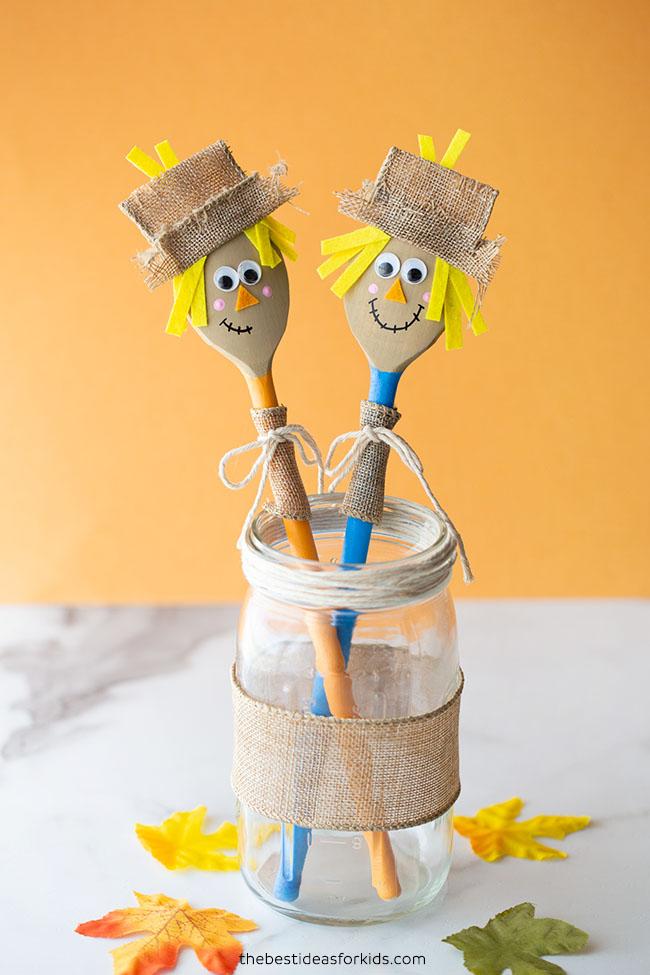 Wooden Spoon Scarecrow Idea