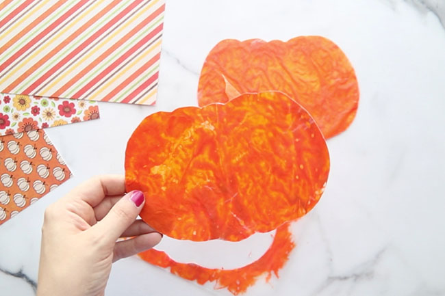 Cut out Pumpkin Shape