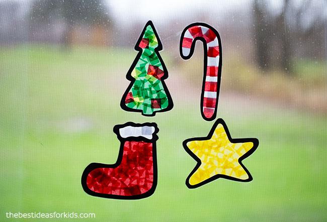 Christmas Suncatcher Craft for Kids