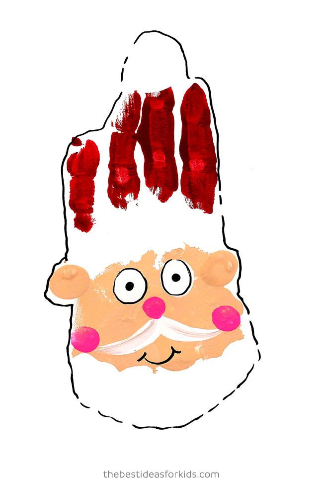 Handprint Santa with Paint