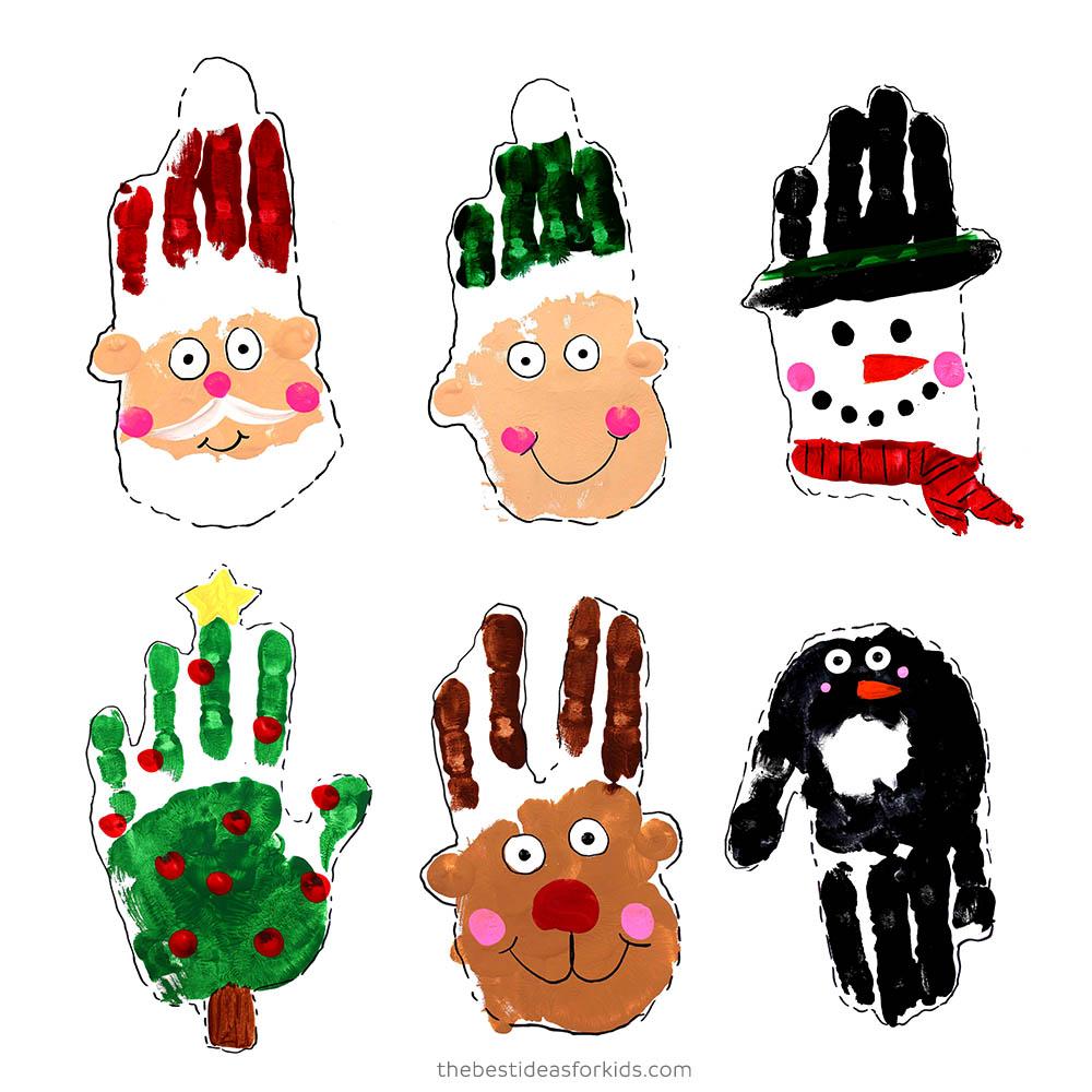Kids Christmas Handprint Art