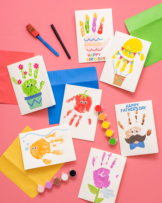 Handprint Card Kit for Kids
