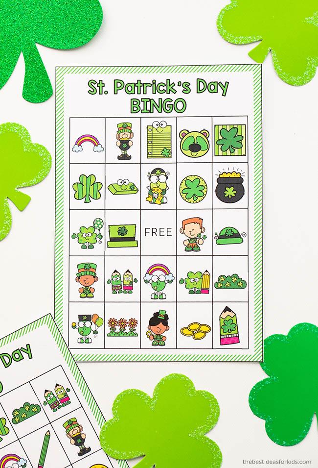 St Patrick's Day Bingo Printable Cards