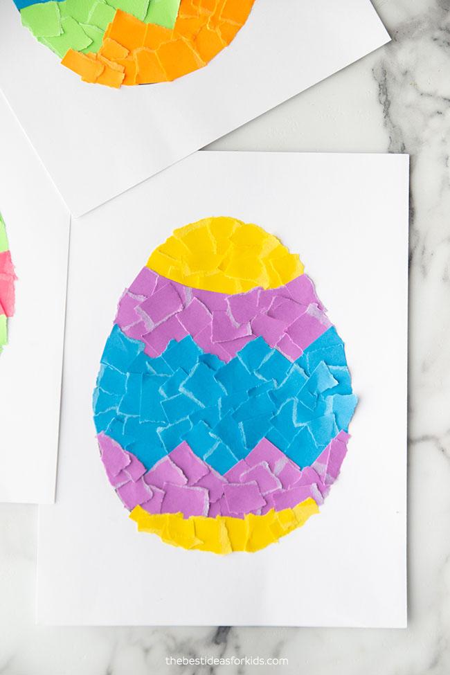 Scrap Paper Easter Egg Craft