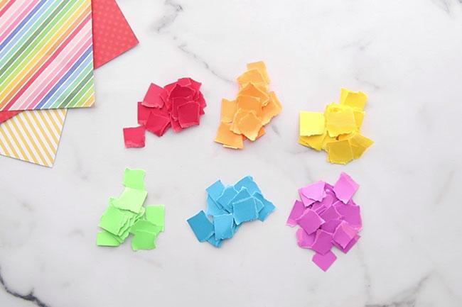 Torn Paper Scraps