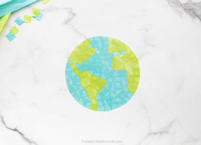 Cut out Suncatcher Earth