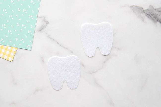 Cut out Tooth Template from Felt