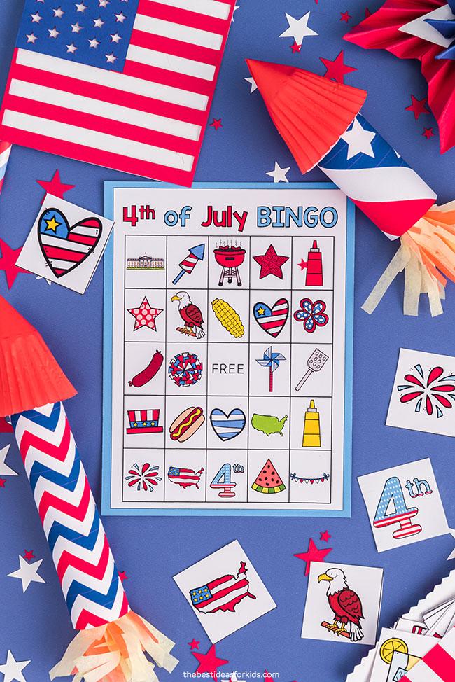 4 de julho Bingo para impressão