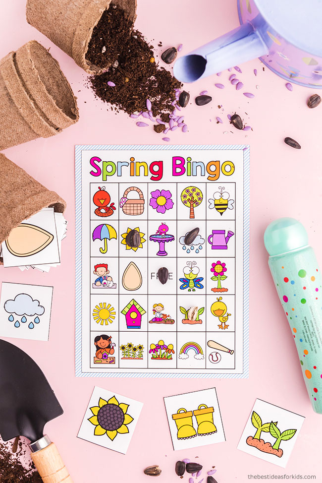 Free Spring Bingo Cards
