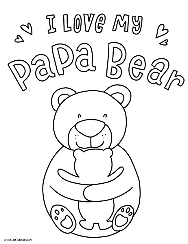 I Love My Papa Bear