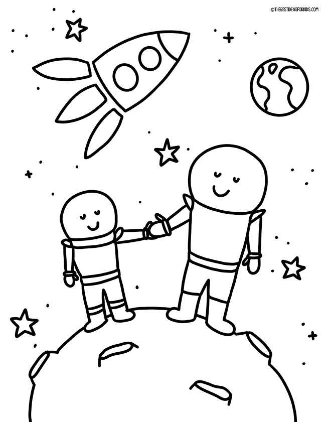 Out of this World Coloring Page