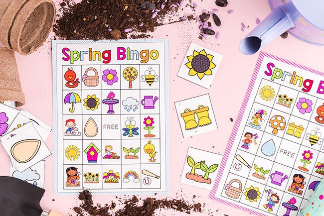 Spring Bingo Printable Cards