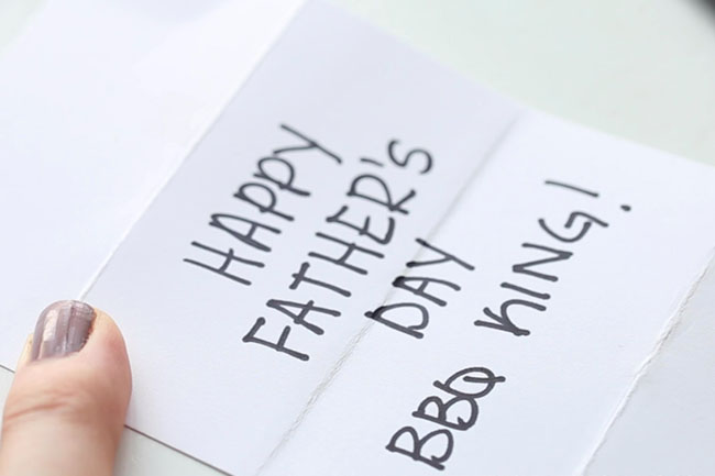 Write Father's Day Message in Card