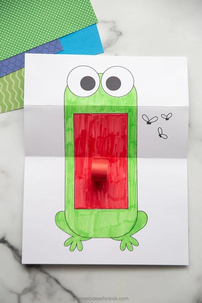 Folding Surprise Frog Paper