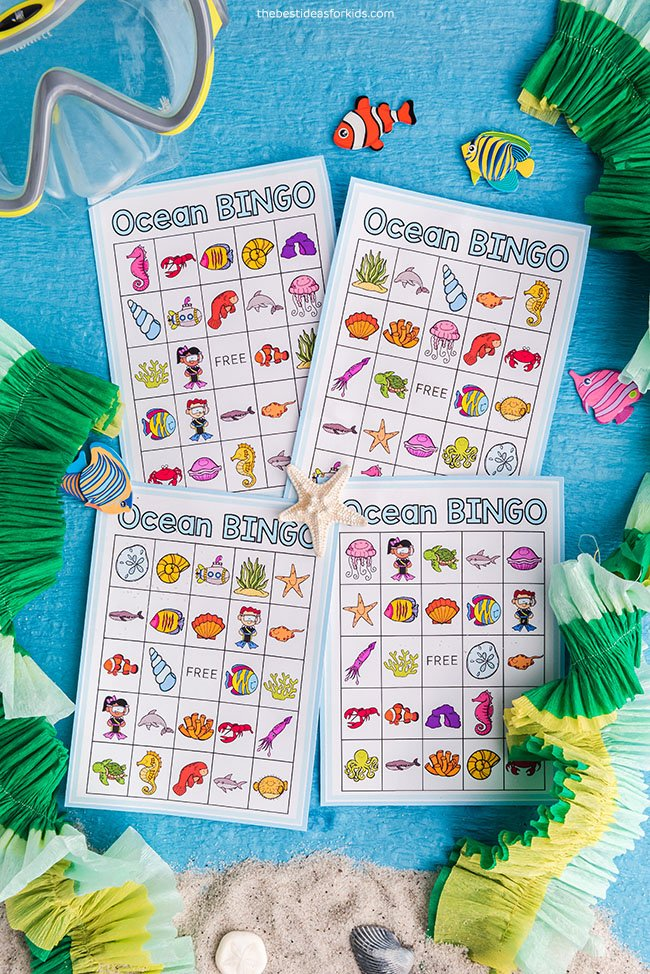 Ocean Bingo Printable Cards