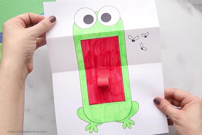 Open Folding Surprise Frog