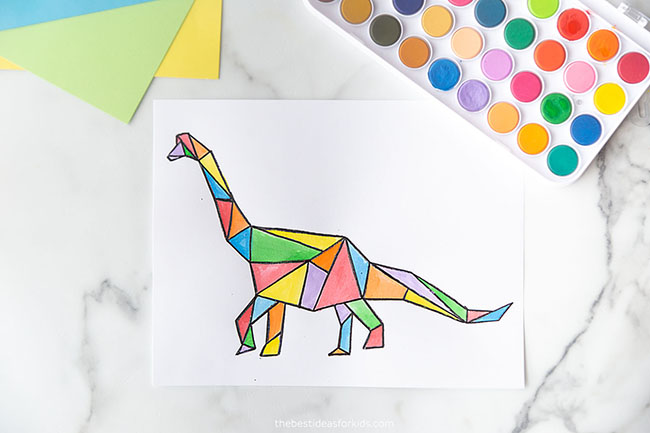Brachiosaurus Dinosaur Art for Kids