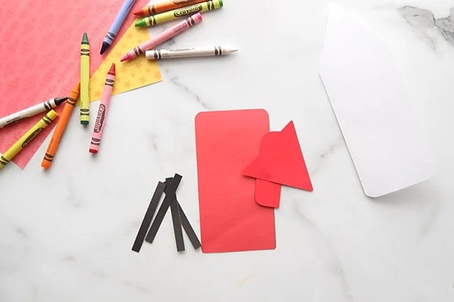 Cut out Cardstock Template Pieces