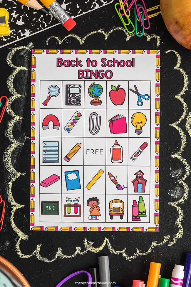 Free Printable Back to School Bingo Cards