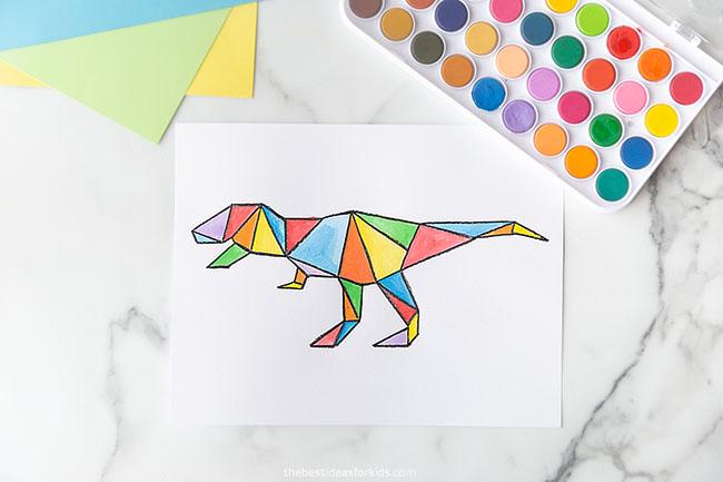 Trex Dinosaur Art