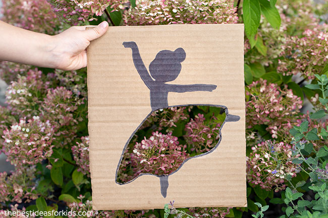 Pink Flower Ballerina Cutout