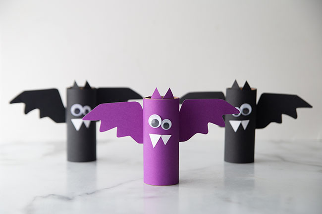 Toilet Paper Roll Bats Craft for Kids