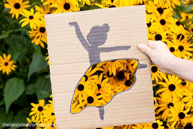 Yellow Flower Ballerina Cutout