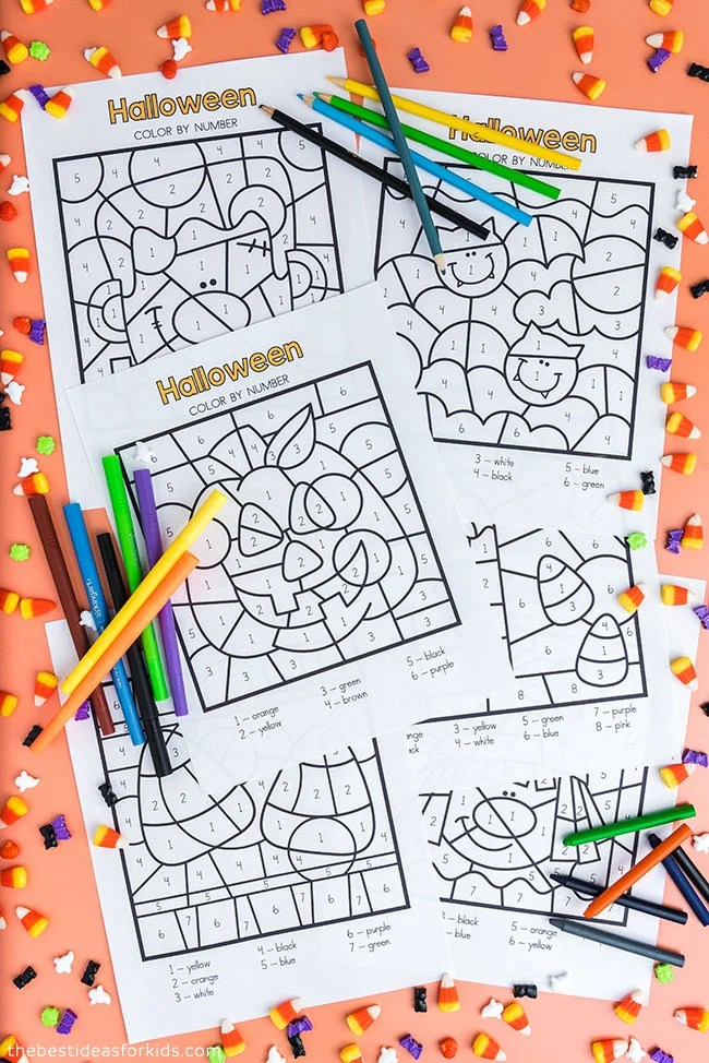 Free Printable Halloween Color By Number