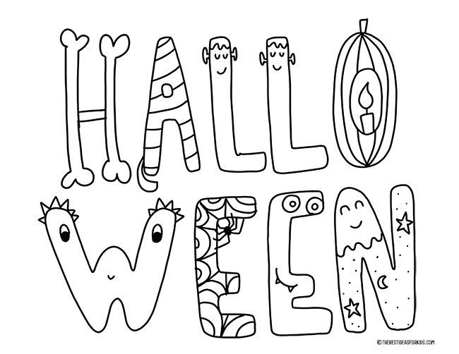 Halloween Coloring Pages - The Best Ideas for Kids