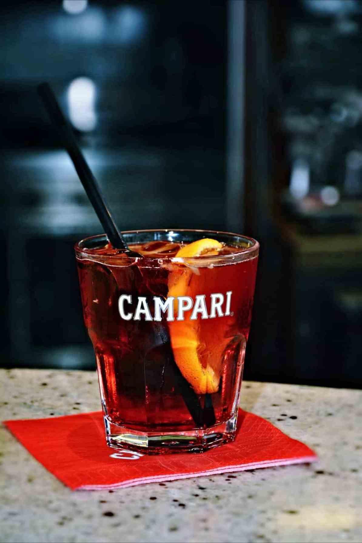 campari drink in Milan Italy