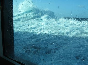 Massive waves during one of our runs up the coast of spain