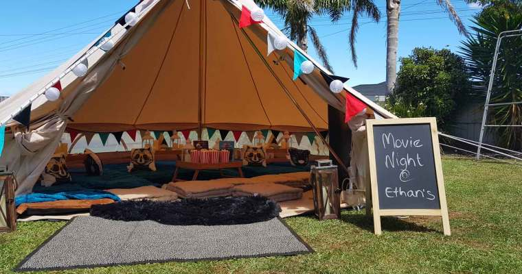 Kids Parties: Garden Glamping + Movie Night