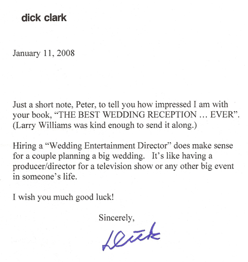 WOW! A letter from Dick Clark...what a huge honor!