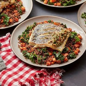 crispy-barramundi-with-quinoa-roasted-carrot-salad