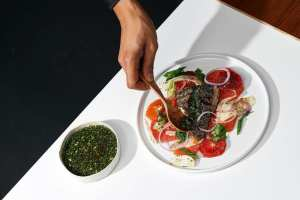 Chef Woldy Reyes Barramundi with Asian Chile Verde