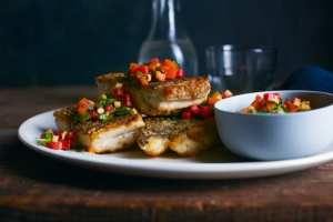 Barramundi Seared with Beet Salad