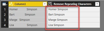 Remove repeating characters from a string in Power BI and