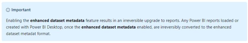 Store datasets in enhanced metadata format