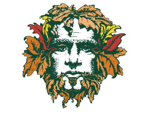Green Man Brewery Fall Logo Variation