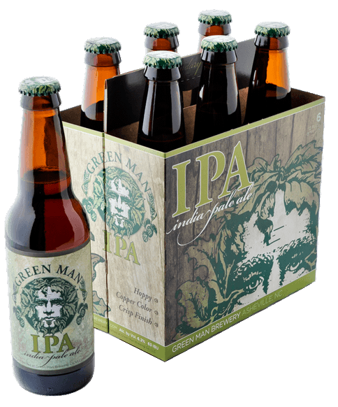 Green Man Brewery IPA Six-Pack Design