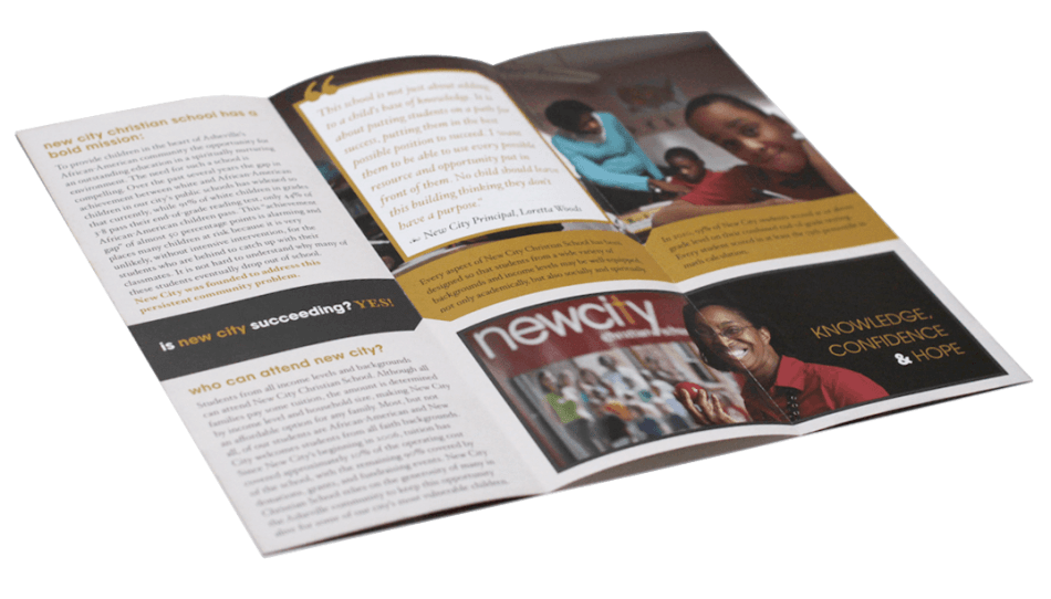 New City Tri-Fold Brochure Print Design