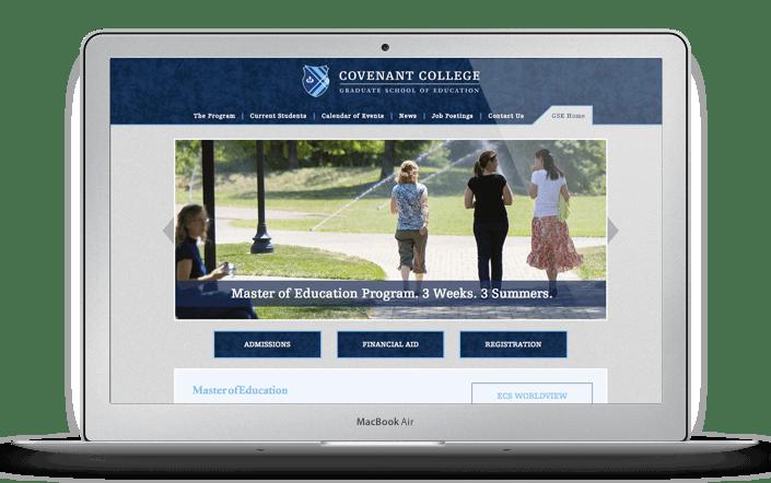 Covenant College G.S.E. Website Design