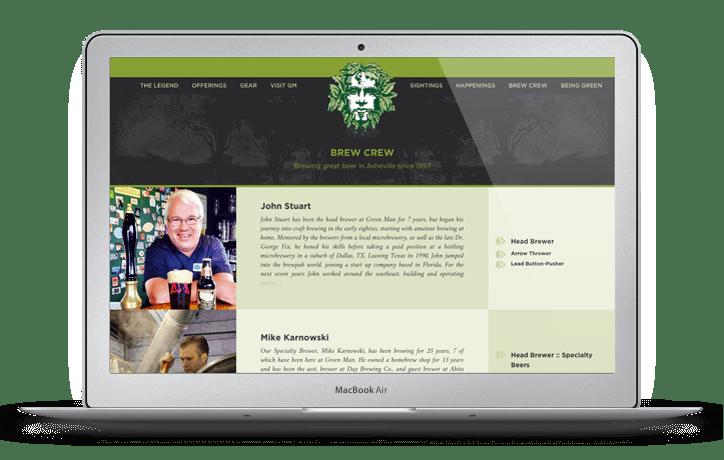 Green Man Brewery Web Design Brew Crew