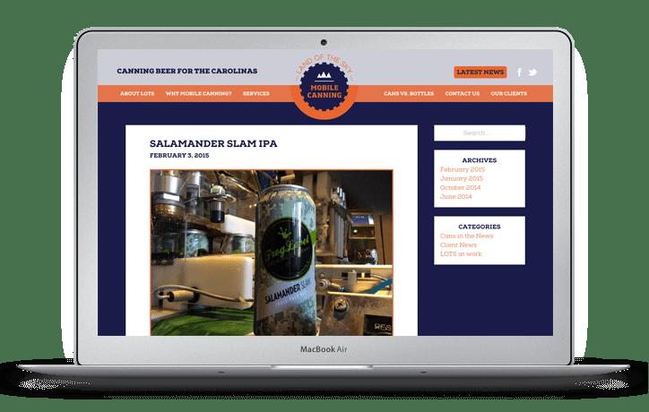 Land of the Sky Mobile Canning Website Design Blog Page