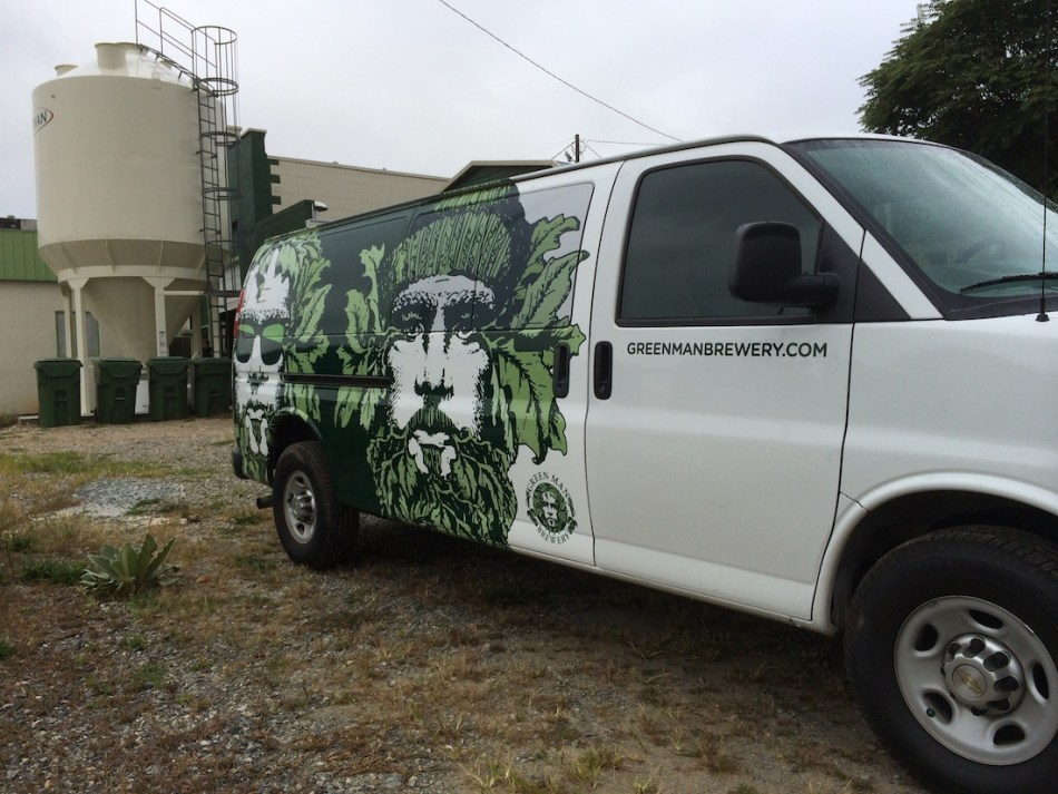 Green Man Brewery Van Wrap