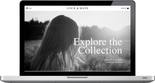 Lock and Mane Website Homepage Design Brand